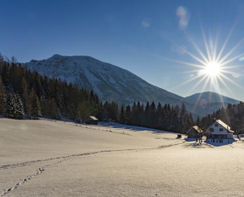 Landschaft bei Sonnenschein